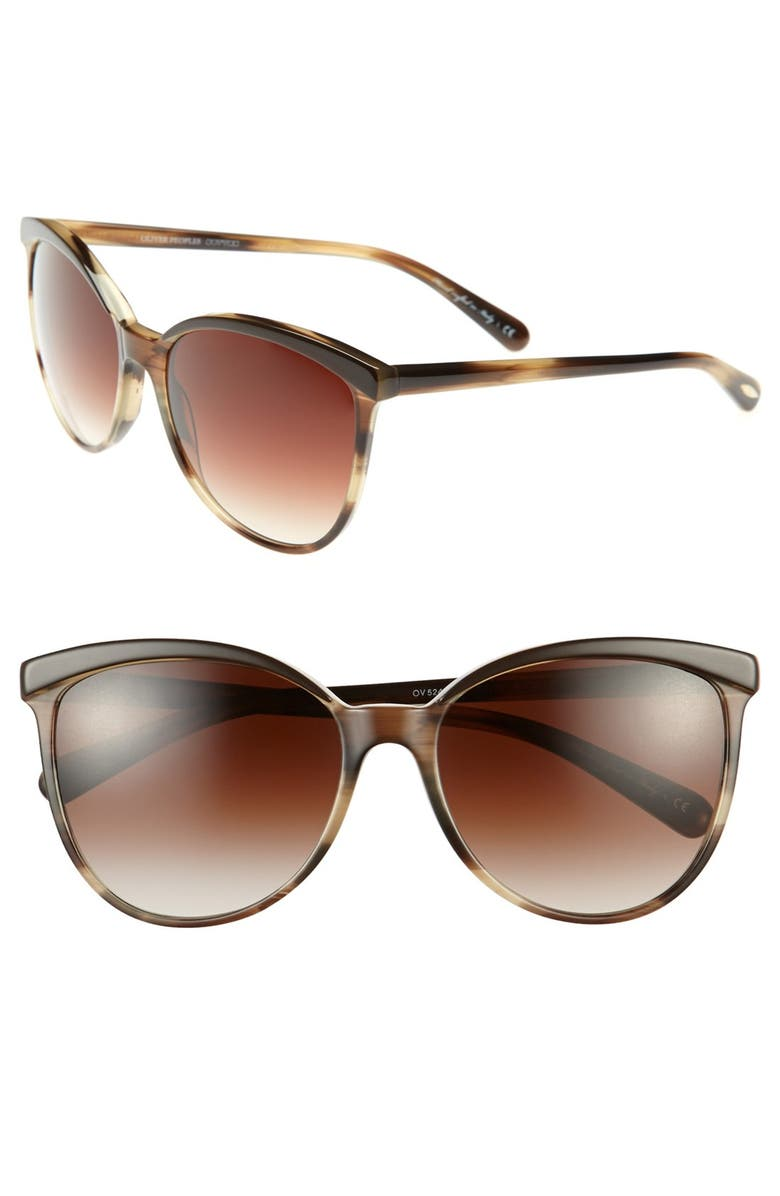 OLIVER PEOPLES 'Ria' 58mm Sunglasses, Main, color, 200