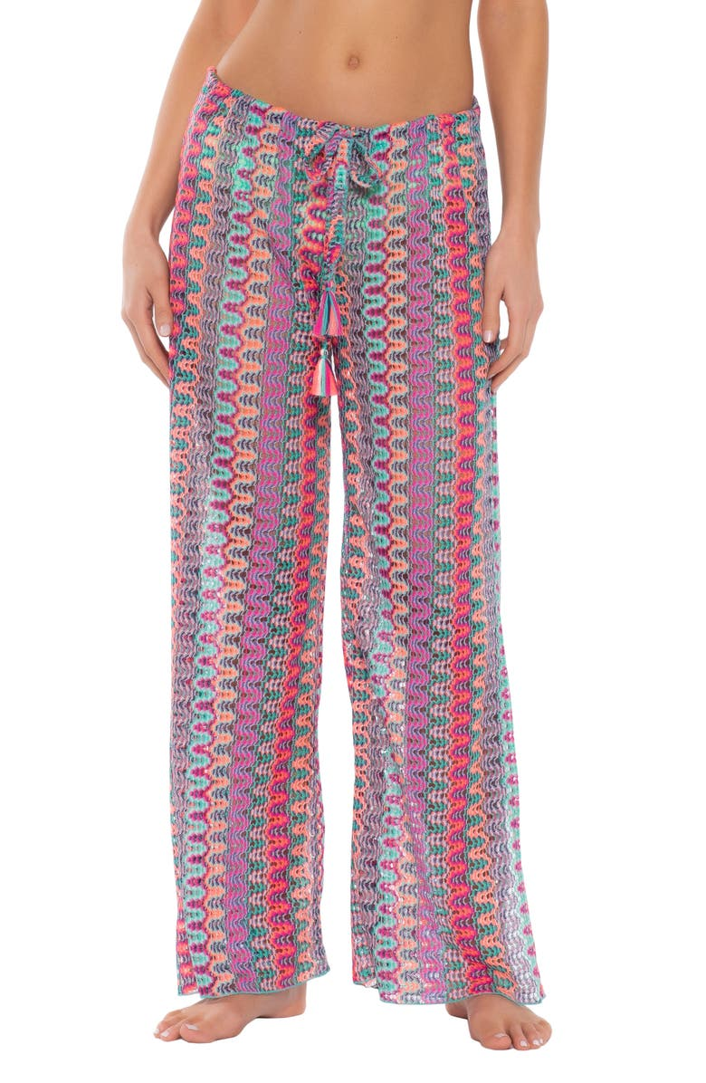 BECCA Festivale Cover-Up Pants, Main, color, MULTI