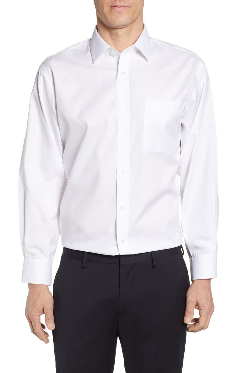 NORDSTROM MEN'S SHOP Nordstrom Smartcare<sup>™</sup> Classic Fit Solid Dress Shirt, Main, color, WHITE BRILLIANT