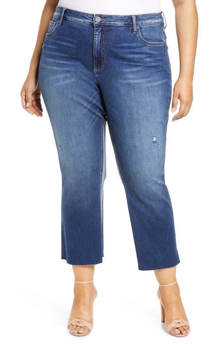KUT FROM THE KLOTH Kelsey High Waist Raw Hem Crop Flare Jeans, Main, color, ENDURABLE