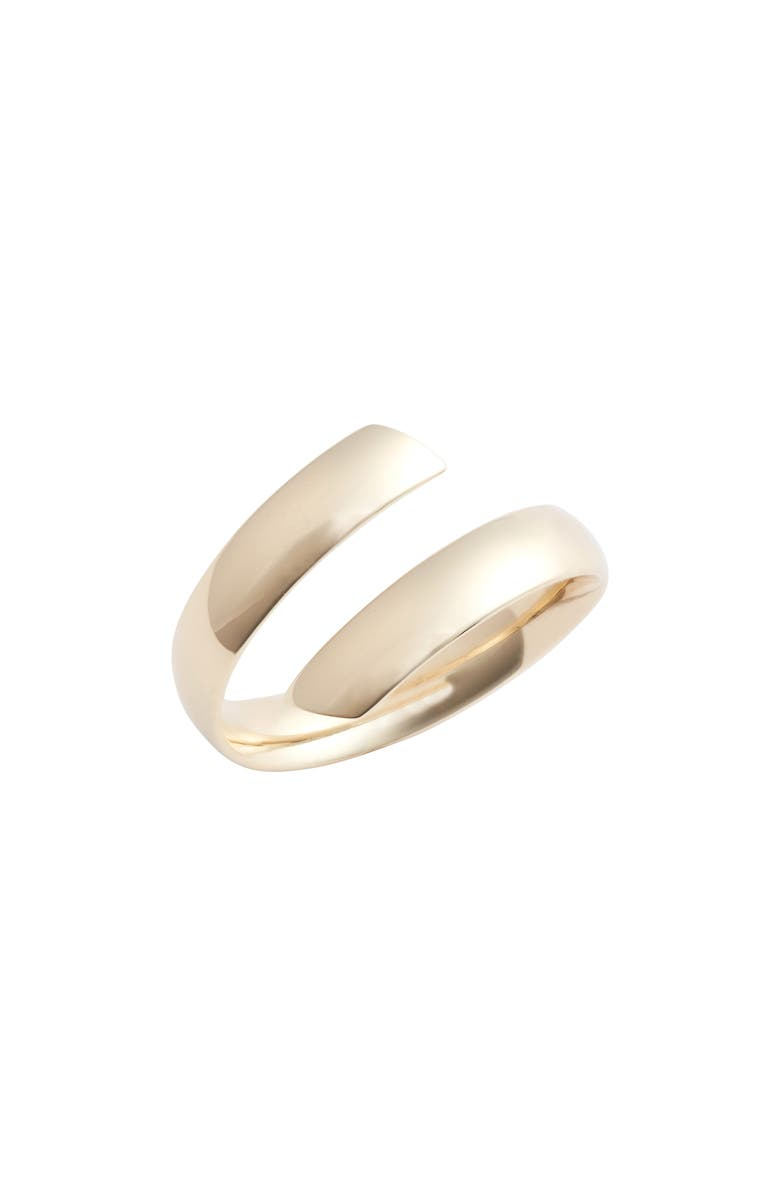 BONY LEVY 14K Gold Beveled Edge Bypass Ring, Main, color, YELLOW GOLD