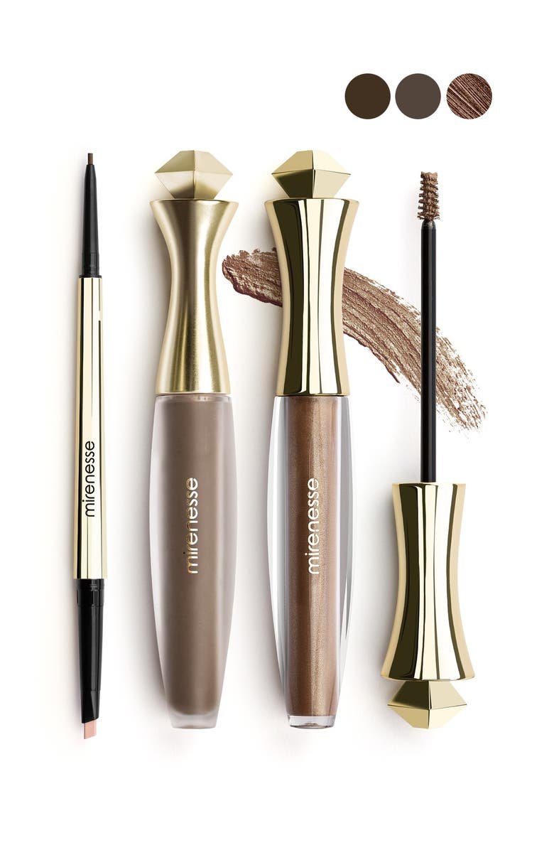 MIRENESSE All-Day 3-Piece Master Perfect Brows Set - Dark Brown, Main, color, NO COLOR