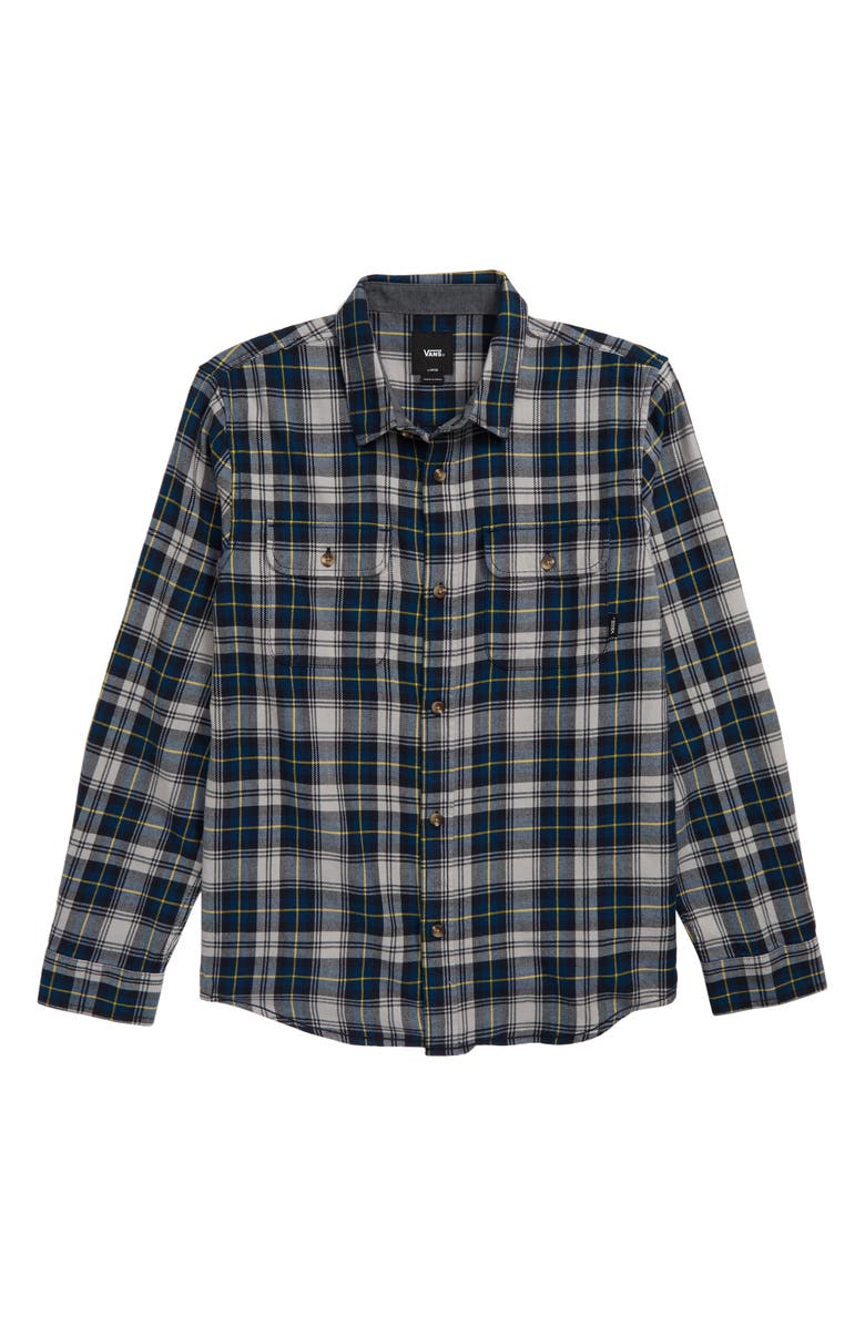 VANS Sycamore Plaid Flannel Shirt, Main, color, 420