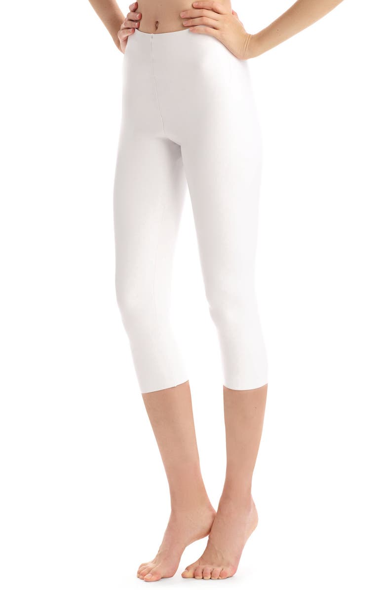 COMMANDO Faux Leather Capri Leggings, Main, color, White