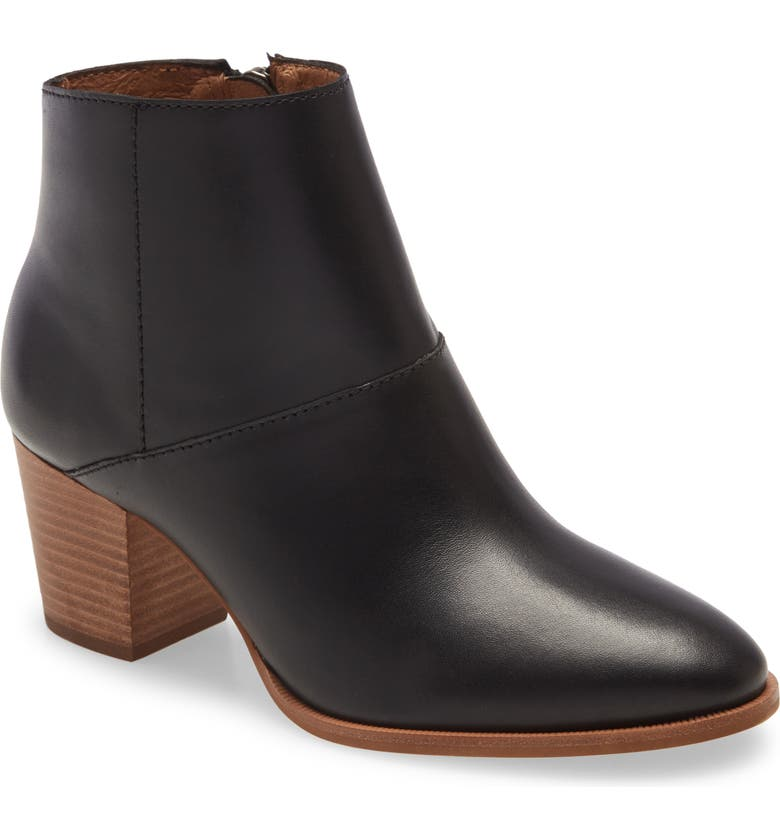 MADEWELL The Rosie Ankle Boot, Main, color, TRUCK BLACK LEATHER