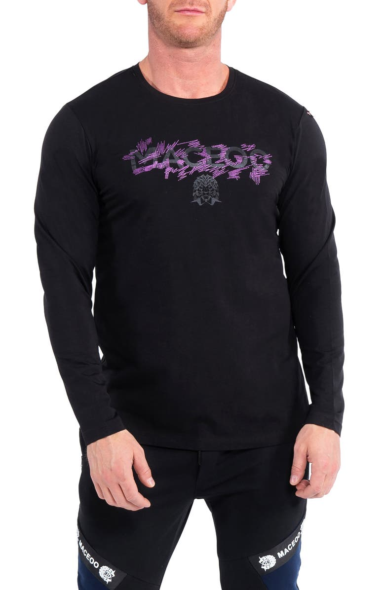MACEOO Electric Logo Graphic Sweater, Main, color, BLACK