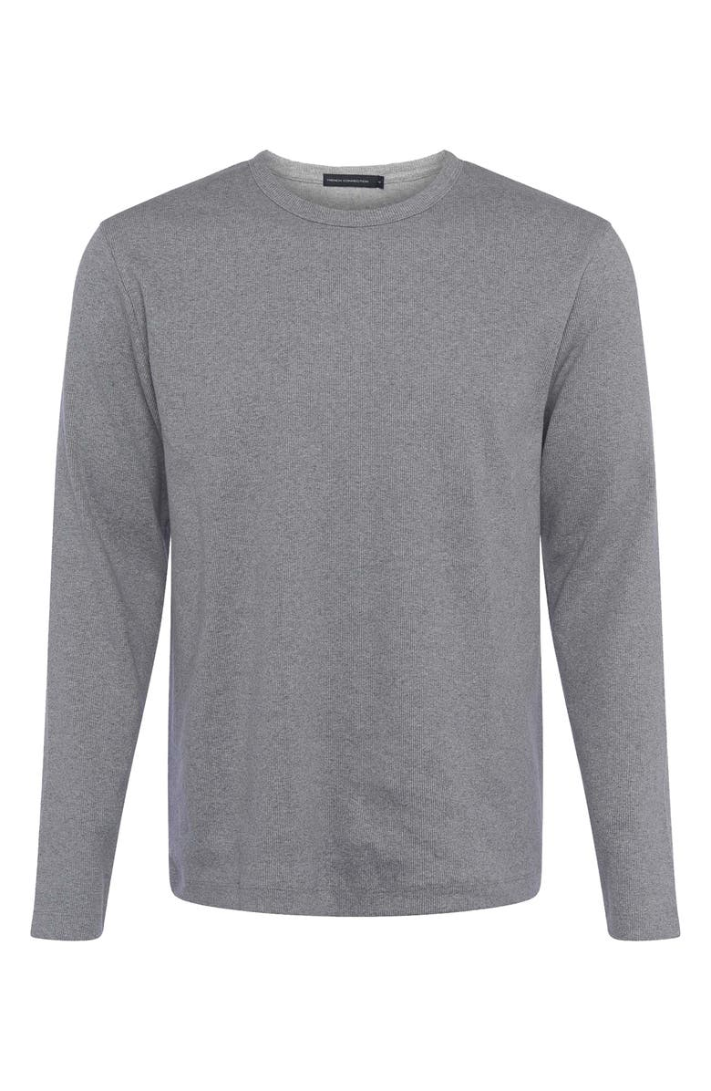 FRENCH CONNECTION Durby Rib T-Shirt, Main, color, LIGHT GREY MELANGE
