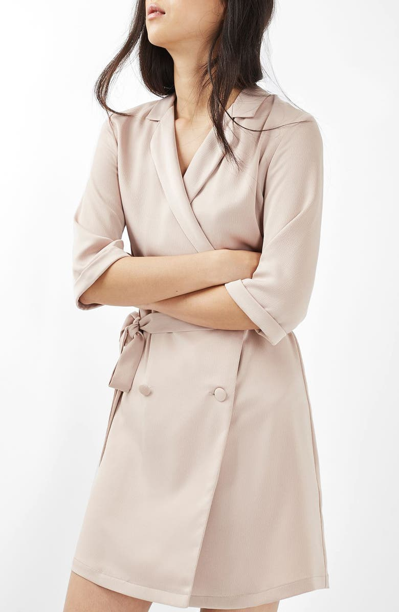 TOPSHOP Double Breasted Wrap Dress, Main, color, 270