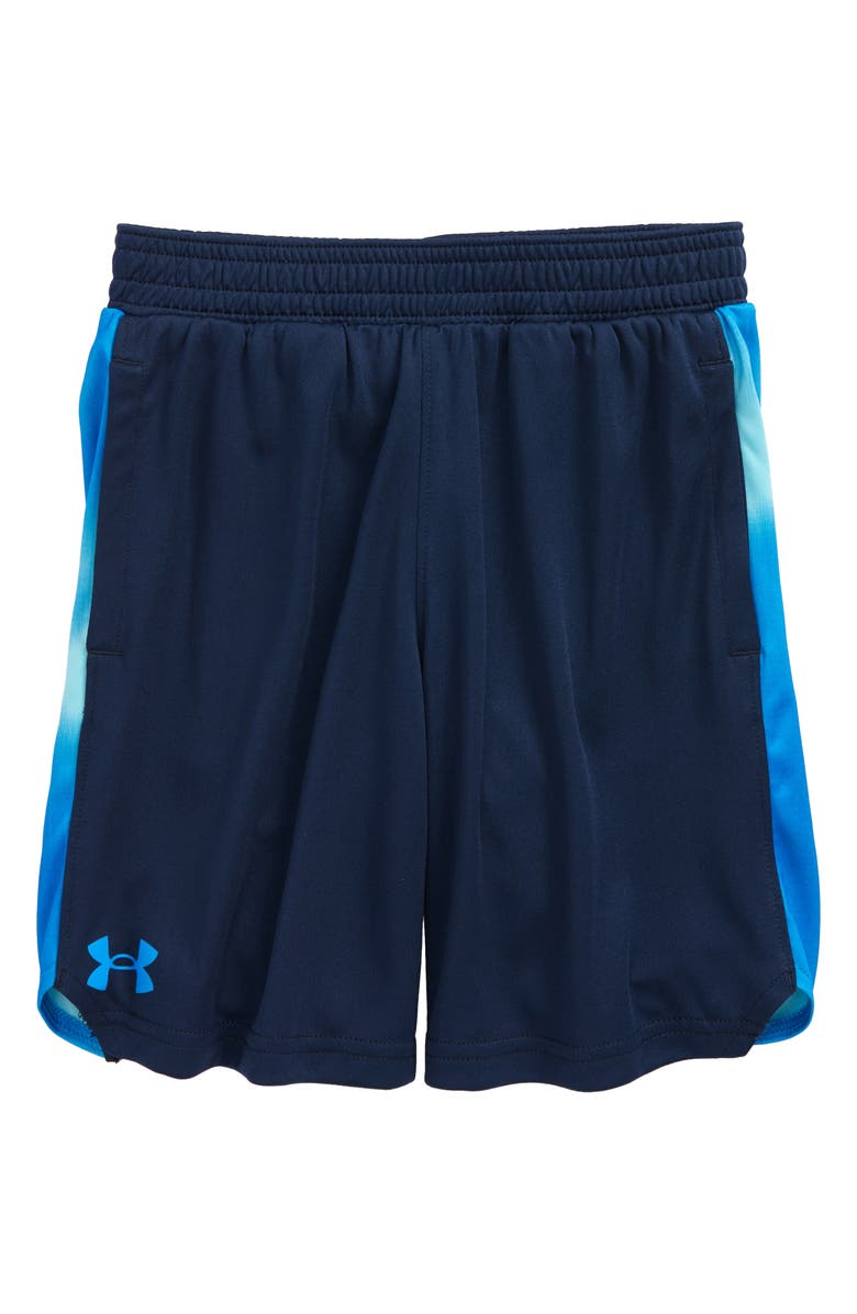 UNDER ARMOUR Kids' Wave Basketball Shorts, Main, color, ACADEMY