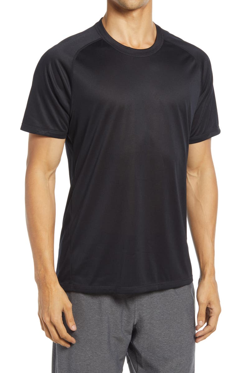 ZELLA Performance T-Shirt, Main, color, BLACK