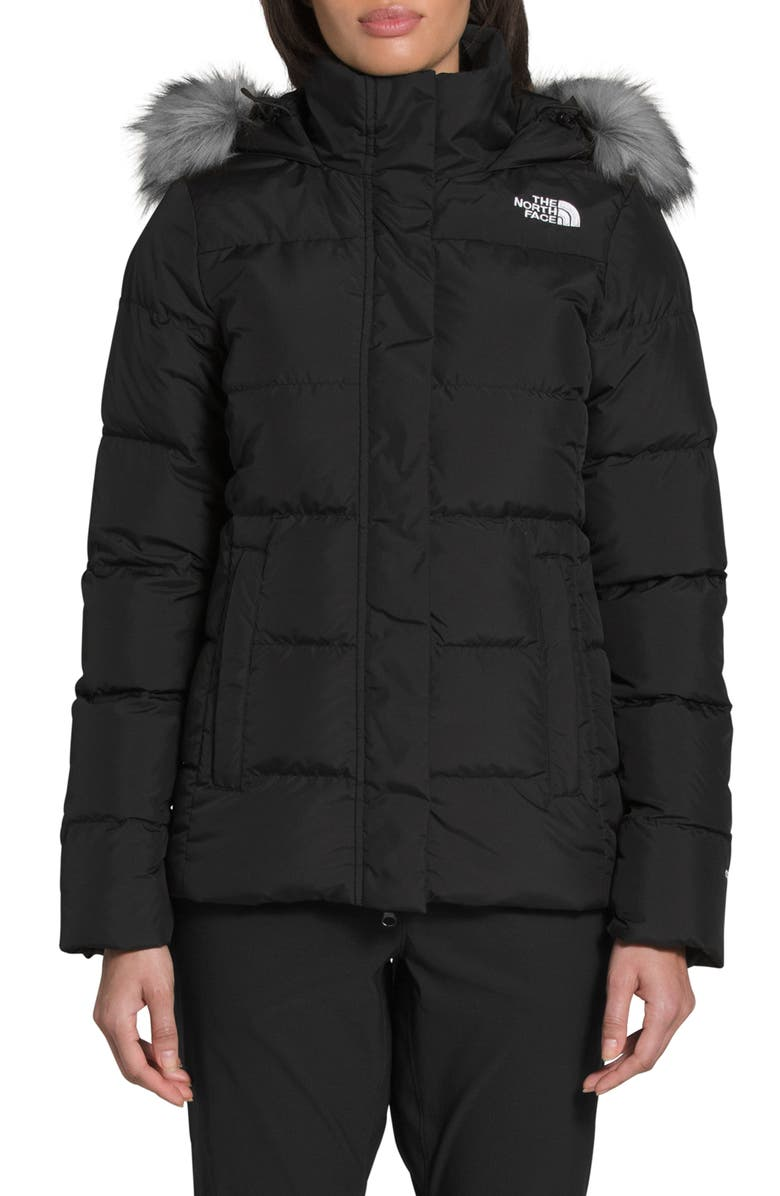 THE NORTH FACE Gotham Water Repellent 550 Fill Power Down Jacket, Main, color, 002