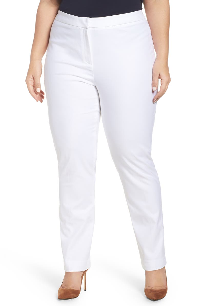 NIC+ZOE 'The Perfect' Pants, Main, color, PAPER WHITE