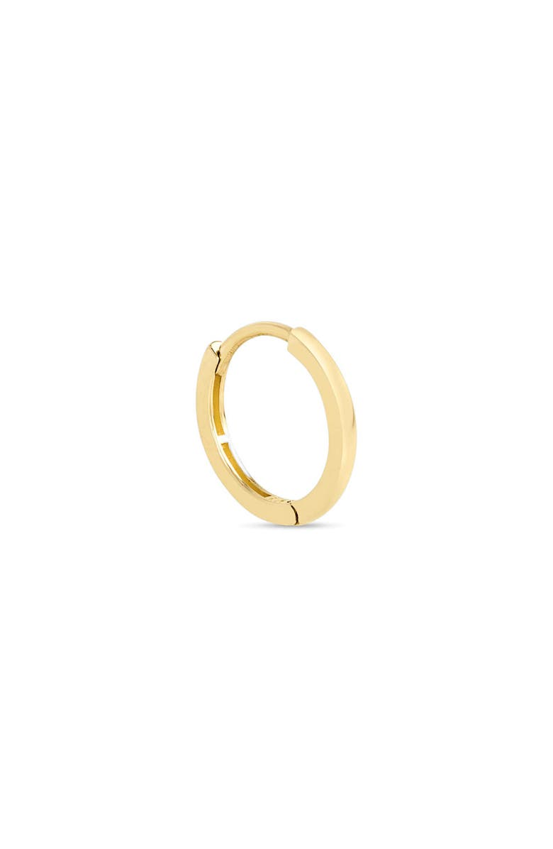 STONE AND STRAND Small Clicker 14K Gold Huggie Hoop Earring, Main, color, YELLOW GOLD
