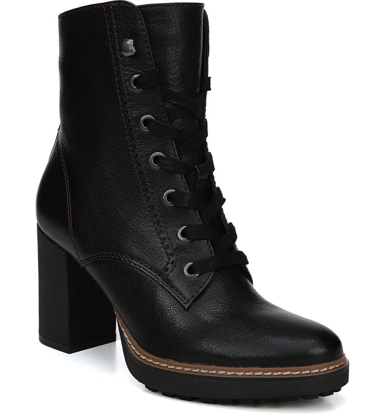 NATURALIZER Callie Lace-Up Boot, Main, color, BLACK LEATHER