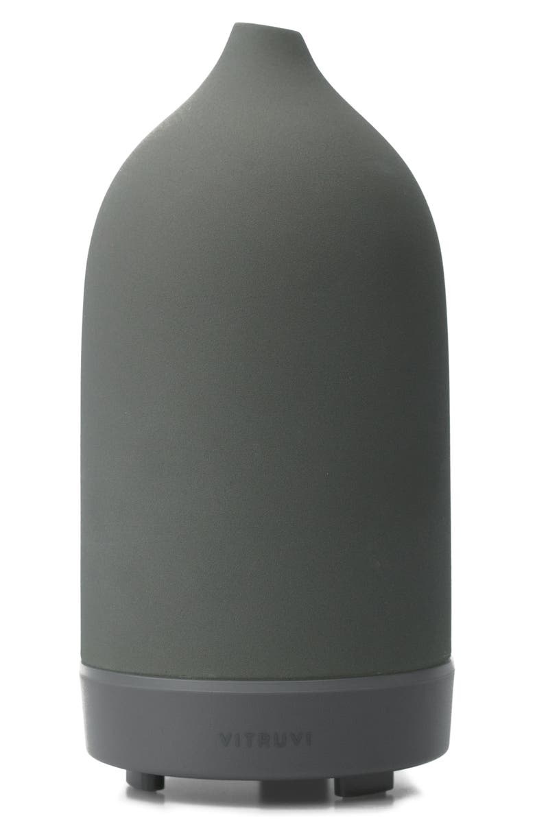 VITRUVI Porcelain Essential Oil Diffuser, Main, color, CHARCOAL