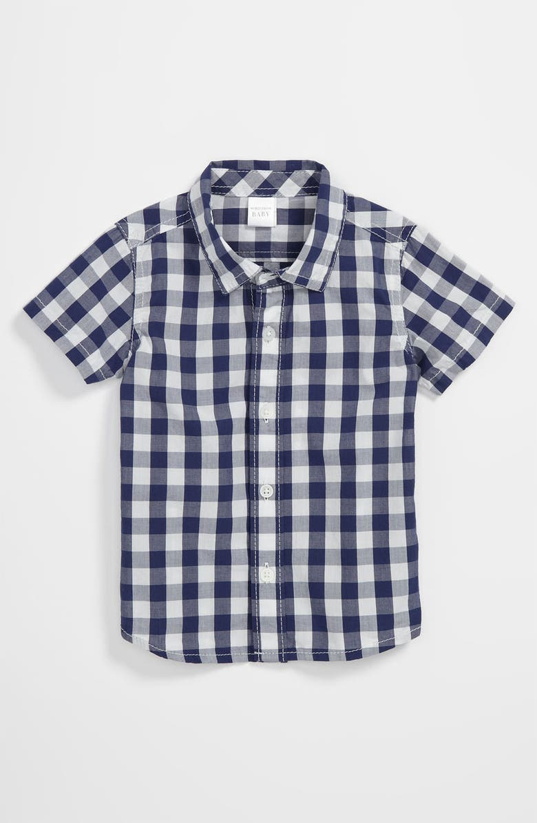 NORDSTROM BABY Woven Shirt, Main, color, BLUE CHECK