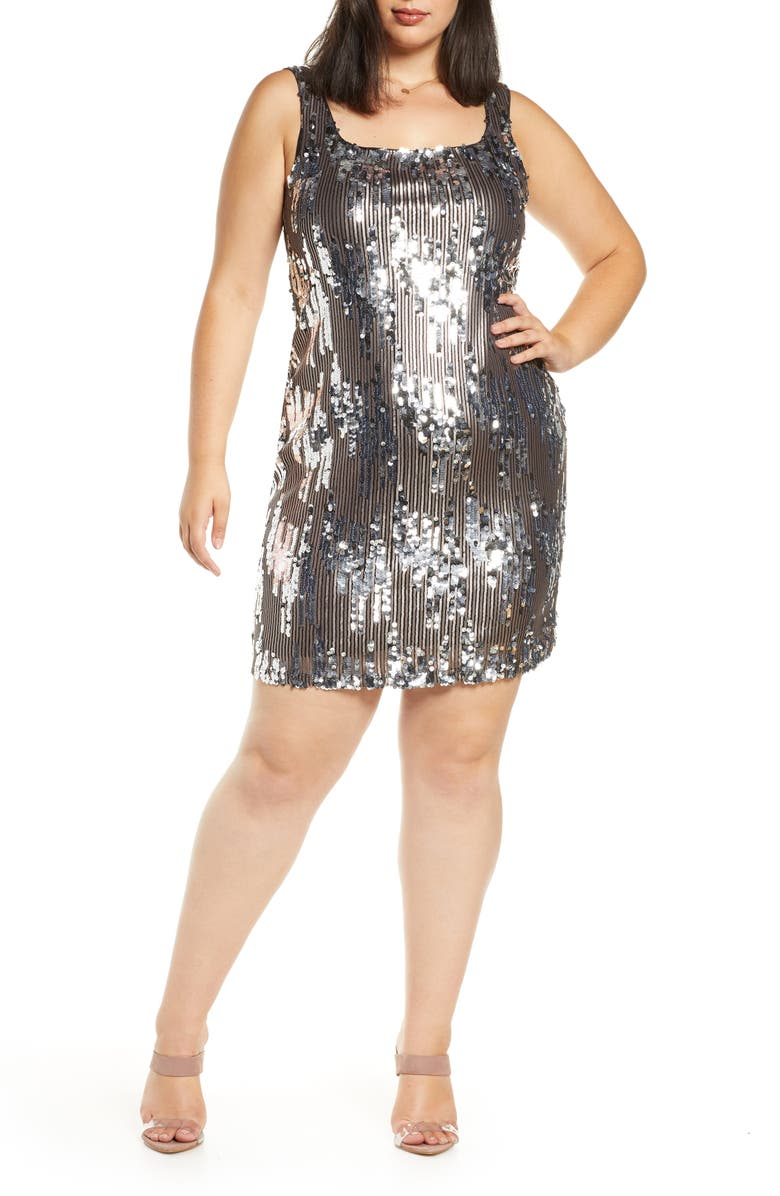 LEITH Sequin Minidress, Main, color, 040