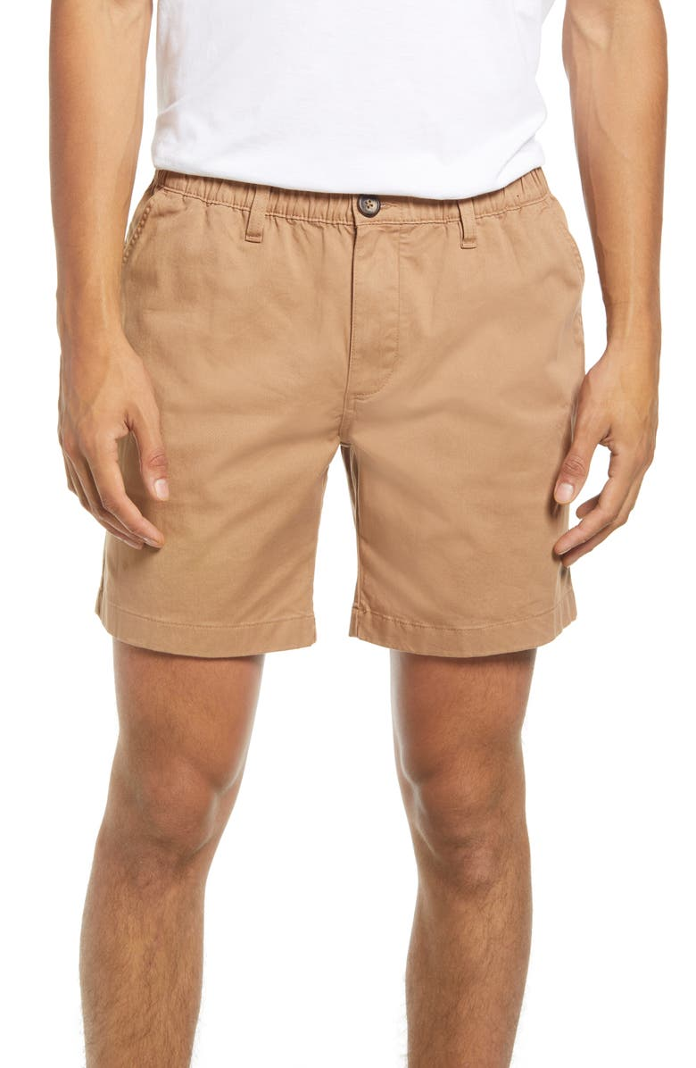 CHUBBIES The Staples Stretch Twill Shorts, Main, color, LIGHT BROWN