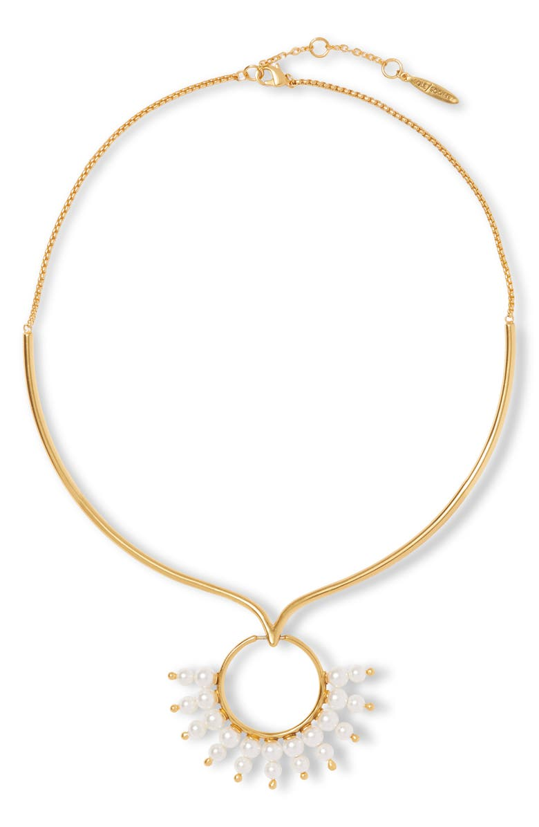 SOLE SOCIETY Imitation Pearl Collar Necklace, Main, color, 710