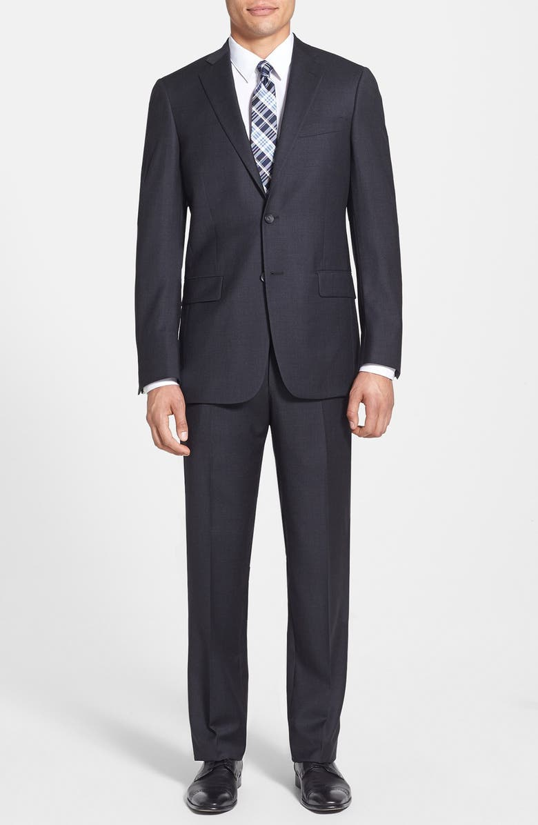 HART SCHAFFNER MARX New York Classic Fit Solid Stretch Wool Suit, Main, color, 030