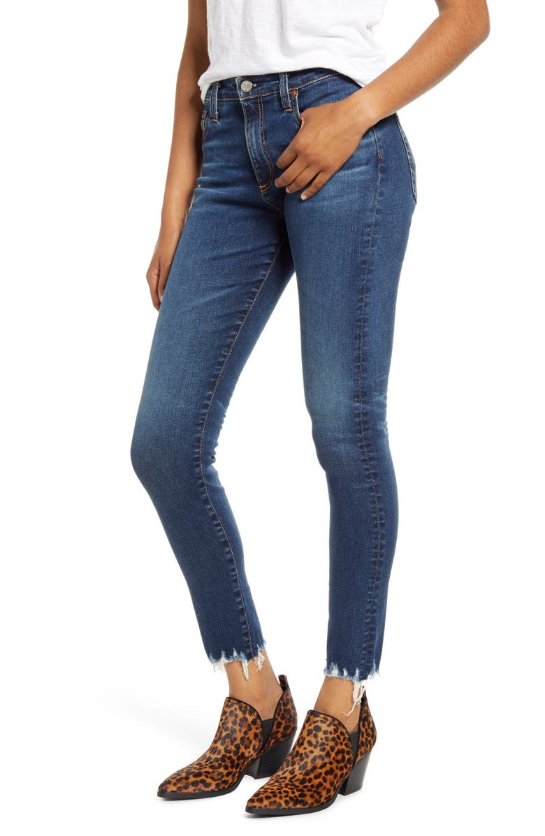 AG The Farrah High Waist Ankle Skinny Jeans, Main, color, 10 YEARS ILLUSTRATED