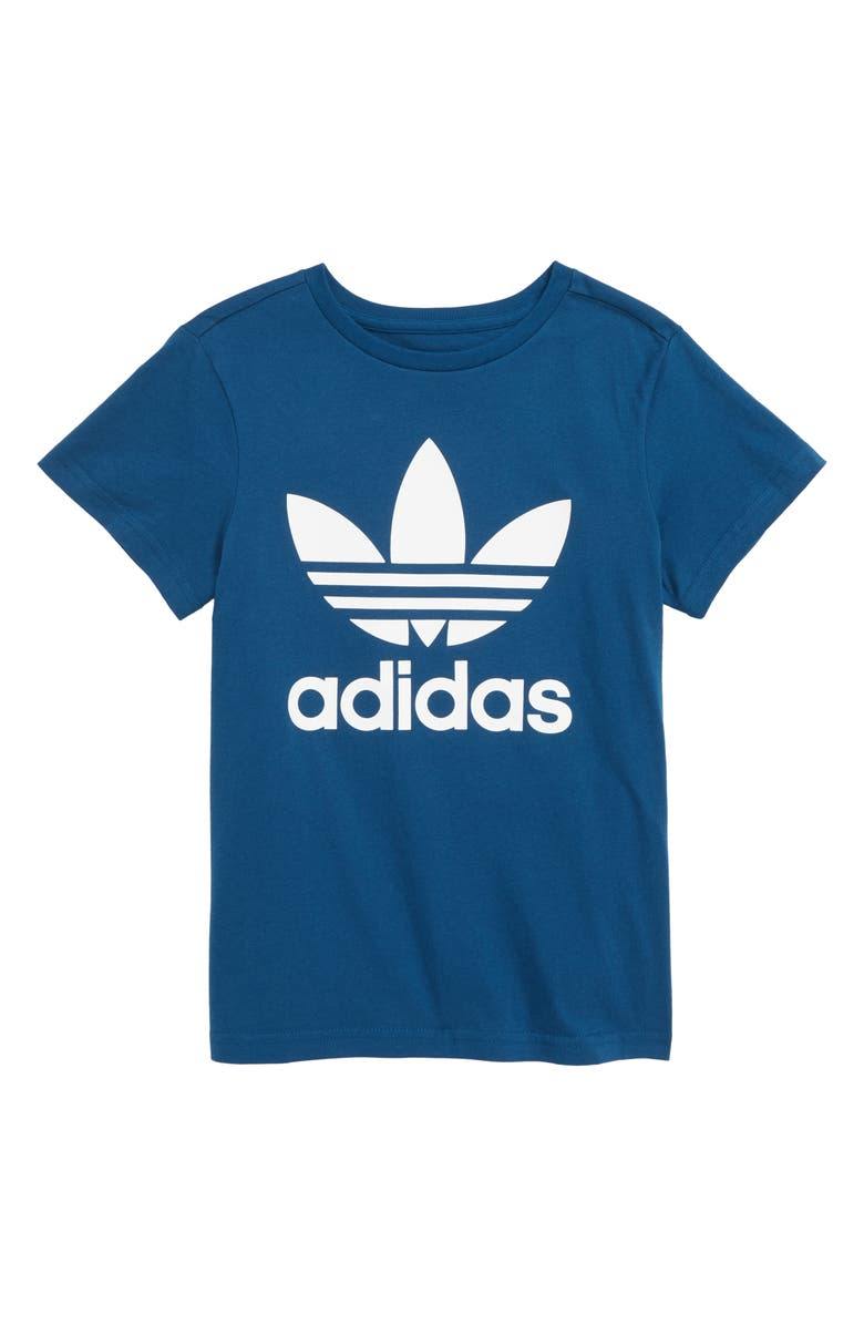 ADIDAS ORIGINALS Trefoil Graphic T-Shirt, Main, color, 486