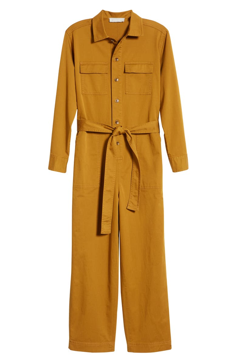 EVERLANE The Modern Utility Jumpsuit, Main, color, BRASS