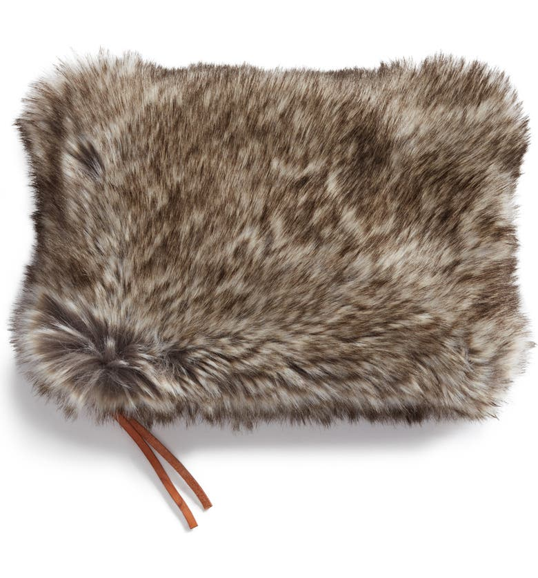 NORDSTROM at Home Cuddle Up Faux Fur Pouch, Main, color, 200