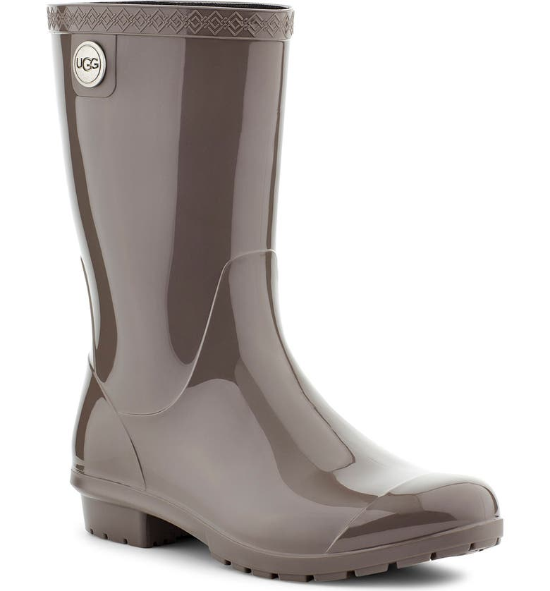 UGG<SUP>®</SUP> Sienna Rain Boot, Main, color, CHARCOAL RUBBER