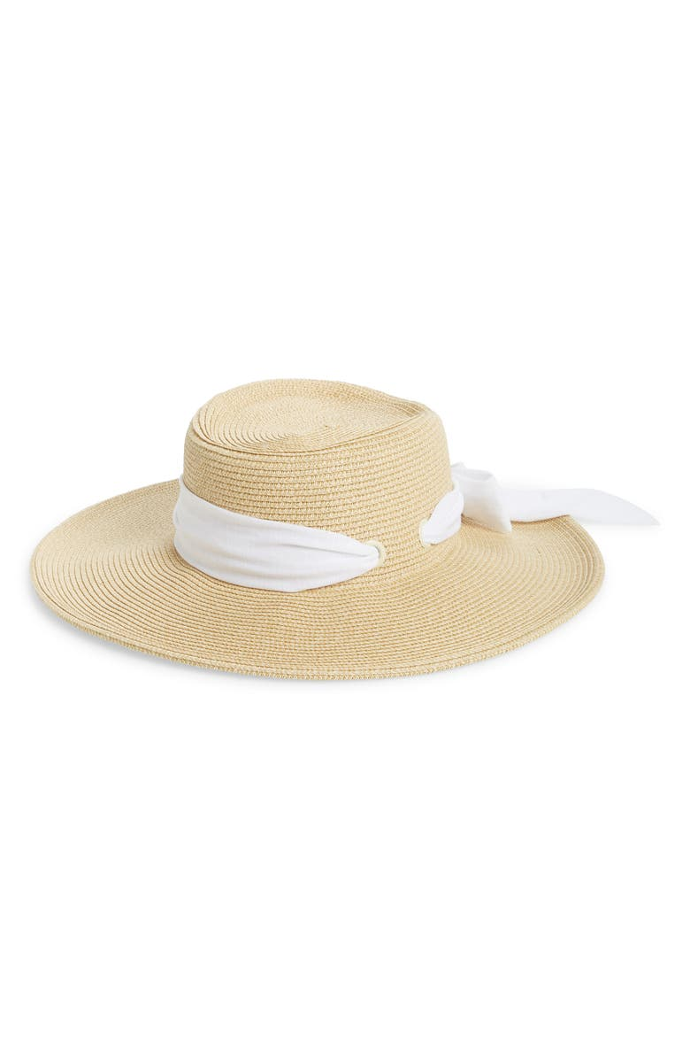 SAN DIEGO HAT Gondolier with Bow, Main, color, NATURAL/ WHITE