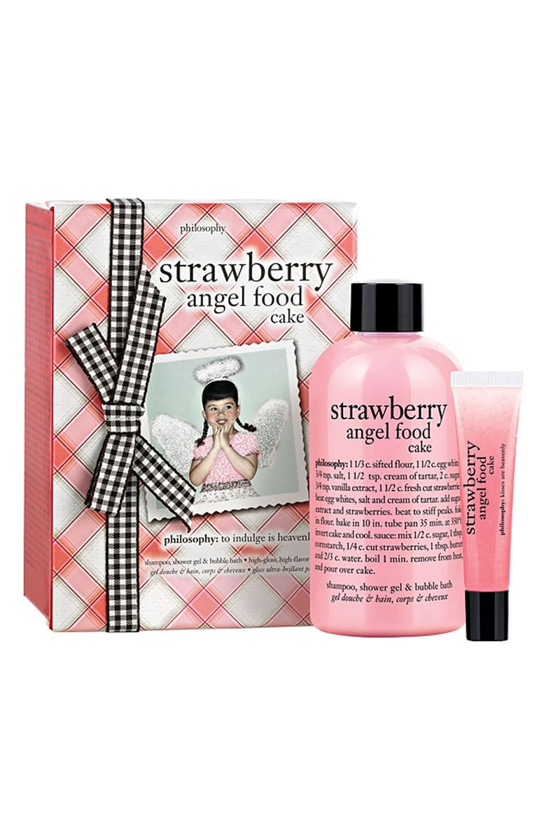 PHILOSOPHY 'strawberry angel food cake' duo, Main, color, 000