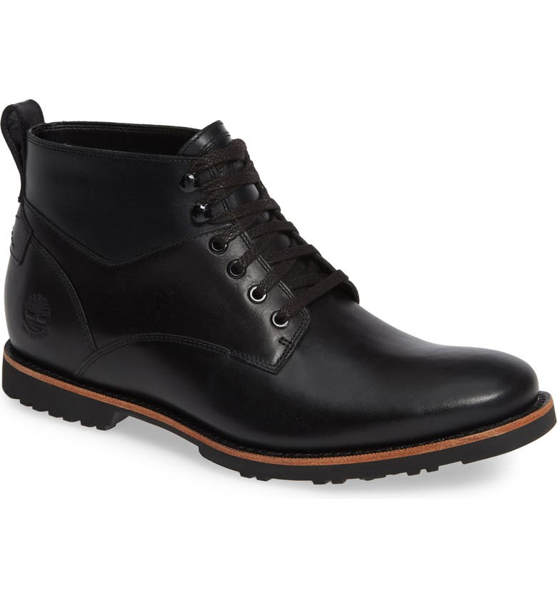 TIMBERLAND Kendrick Waterproof Chukka Boot, Main, color, JET BLACK/ NAVY LEATHER
