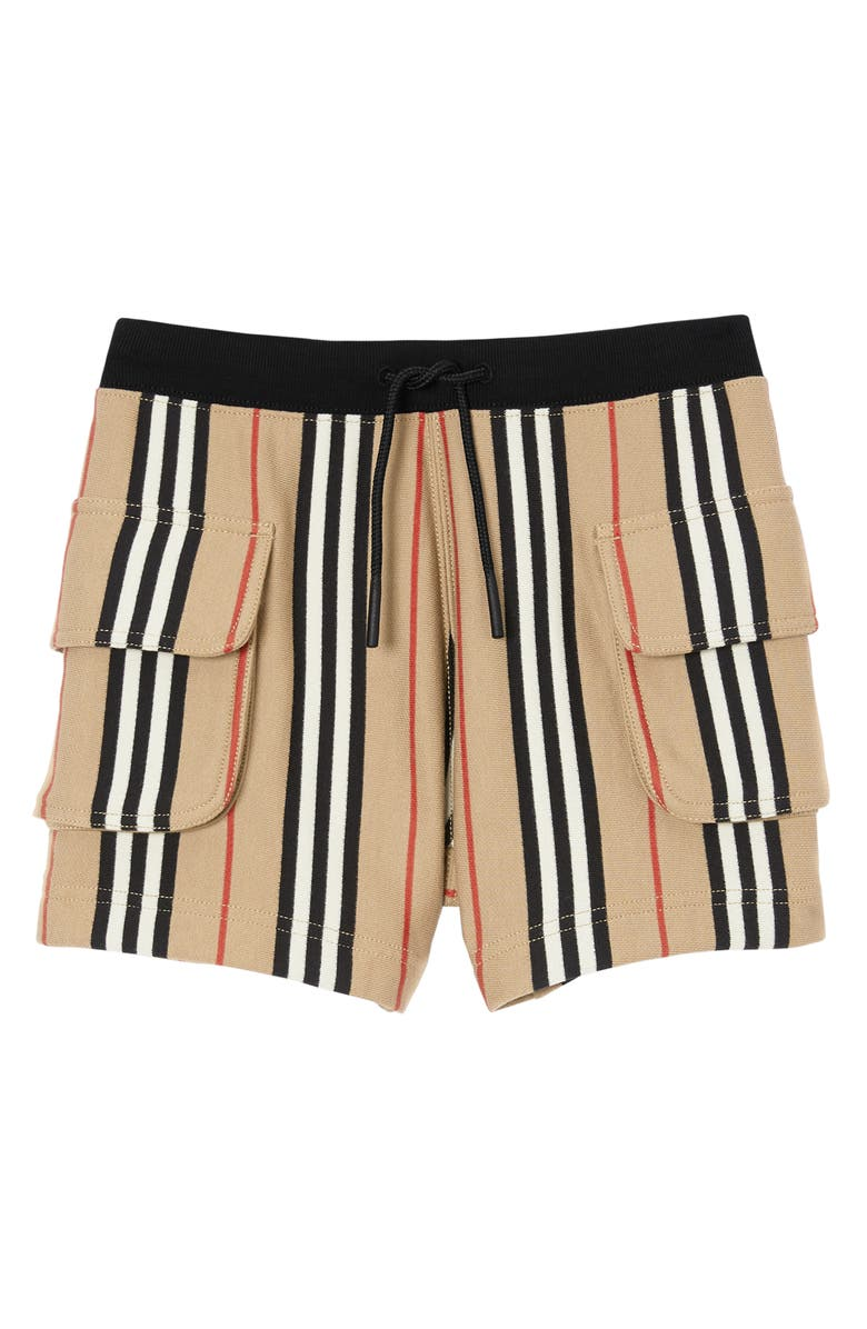 BURBERRY Ines Icon Stripe Shorts, Main, color, 250
