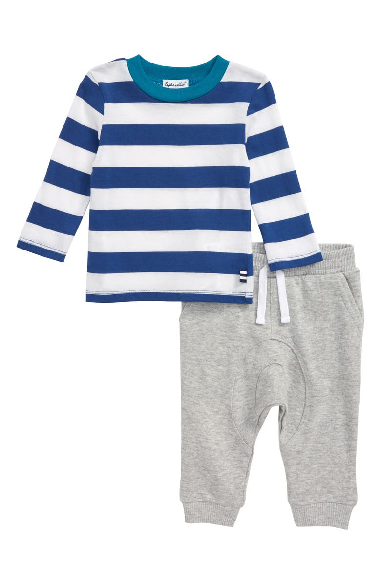 SPLENDID Stripe T-Shirt & Pants Set, Main, color, 430