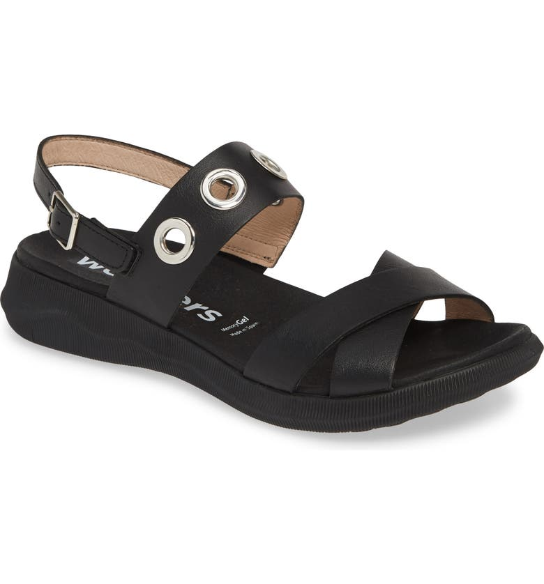 WONDERS Quarter Strap Sandal, Main, color, 001