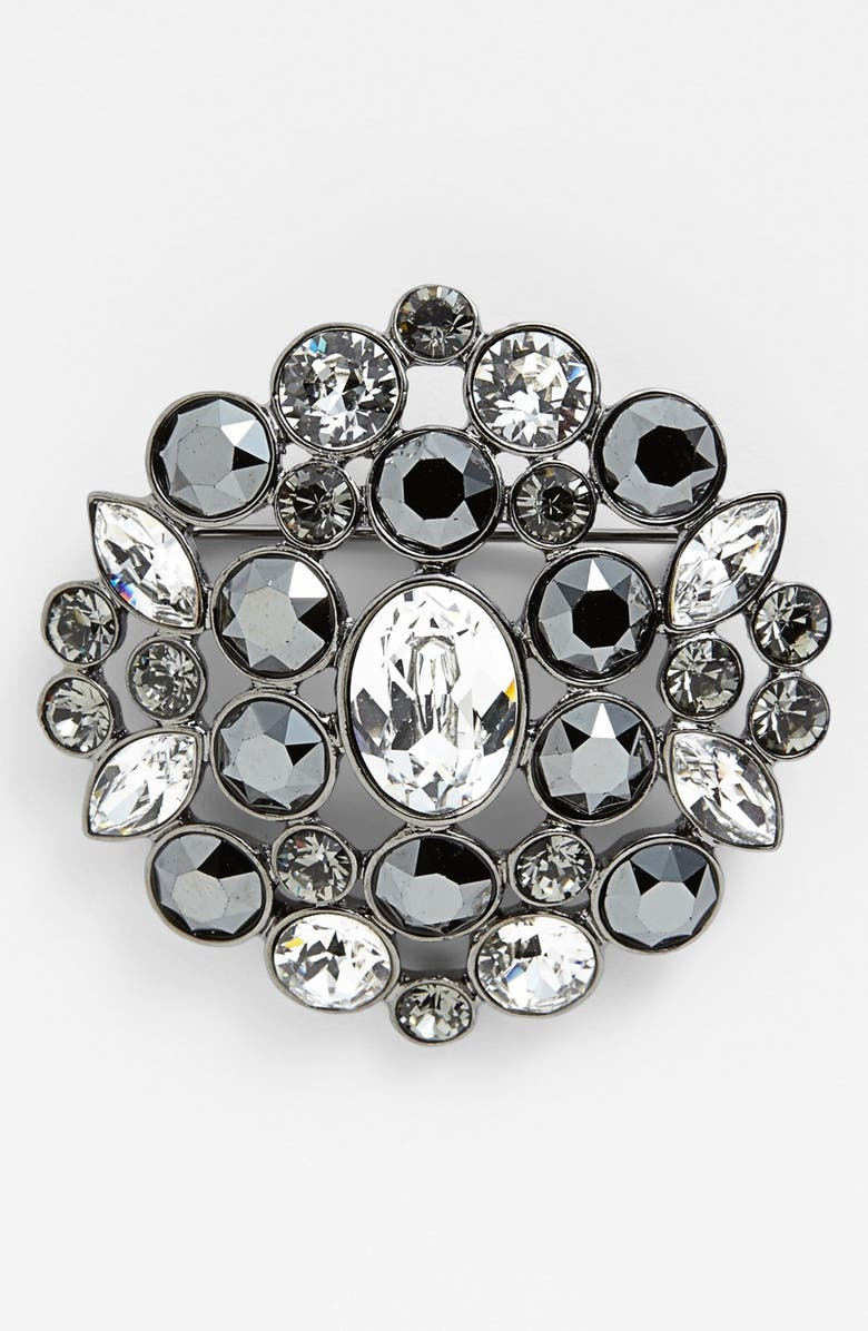 GIVENCHY Crystal Cluster Brooch, Main, color, 020