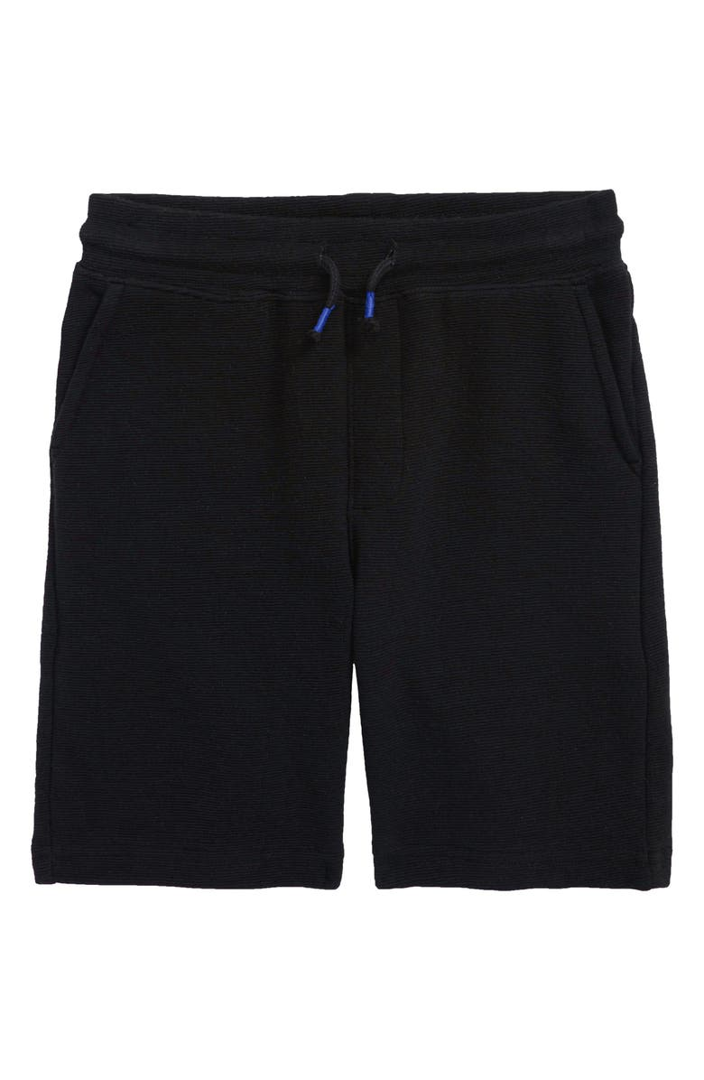 TUCKER + TATE Kids' Textured Knit Shorts, Main, color, BLACK