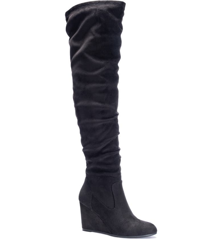 CHINESE LAUNDRY Cocoa Over the Knee Boot, Main, color, 001