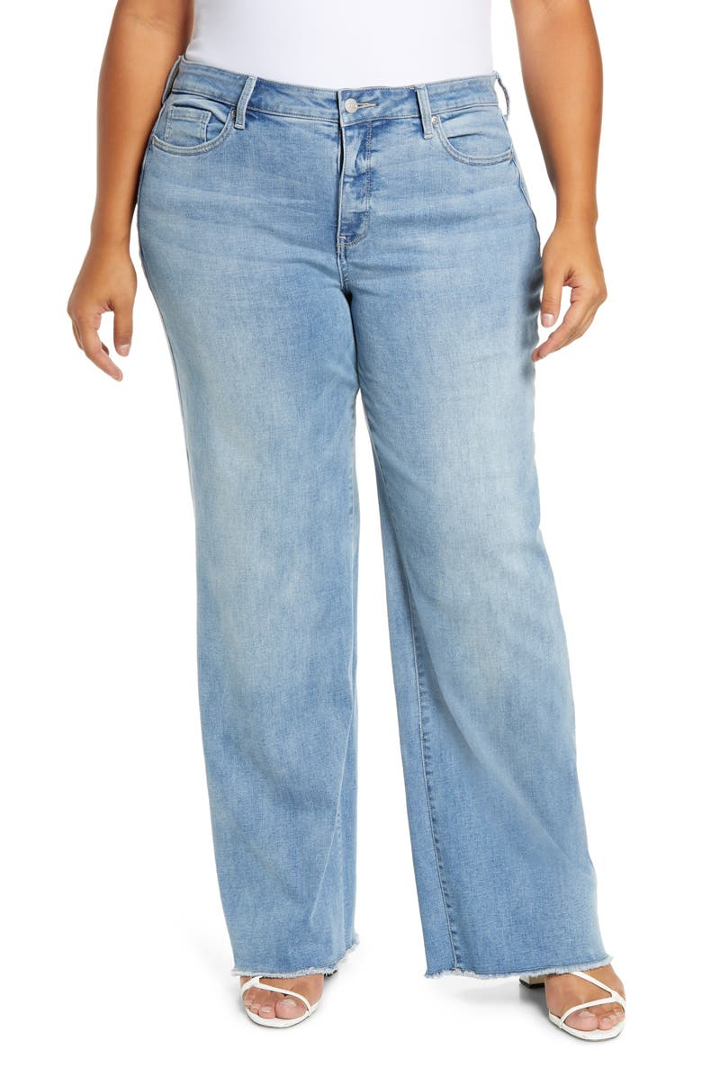 NYDJ Teresa Fray Hem Wide Leg Jeans, Main, color, COHEED