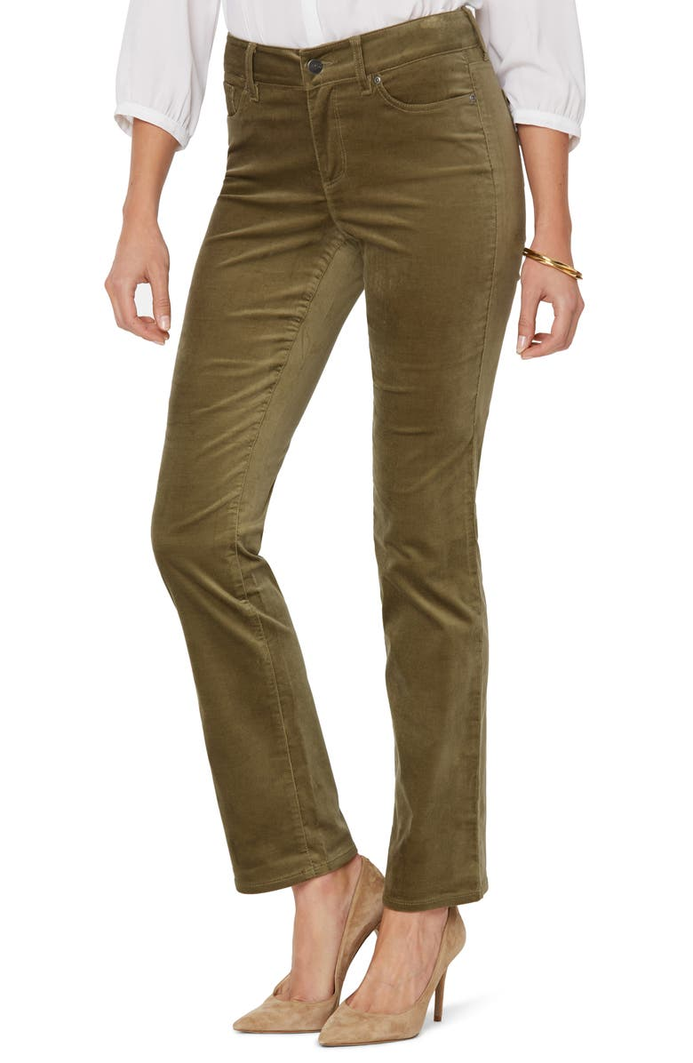 NYDJ Marilyn Straight Leg Jeans, Main, color, MARTINI OLIVE