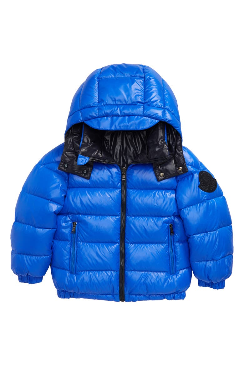 MONCLER Dieppe Water Resistant Channel Quilted Hooded Down Jacket, Main, color, 400