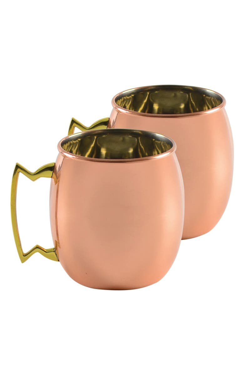 10 STRAWBERRY STREET 'Moscow Mule' Copper Mugs, Main, color, COPPER
