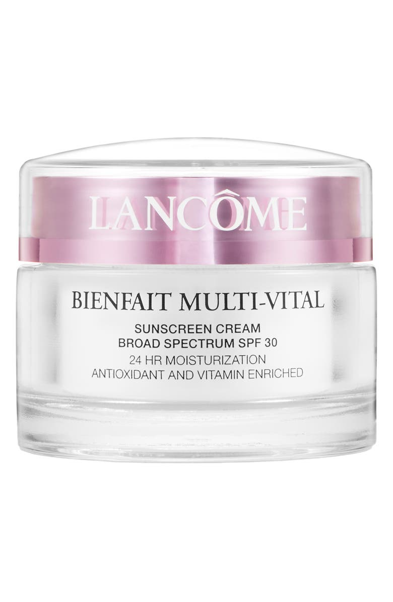LANCÔME Bienfait Multi-Vital SPF 30 Day Cream Moisturizer, Main, color, NO COLOR