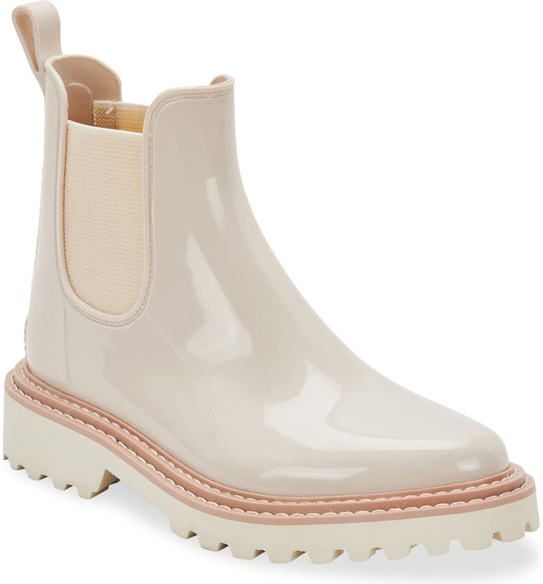 DOLCE VITA Stormy H2O Waterproof Chelsea Boot, Main, color, IVORY PATENT STELLA