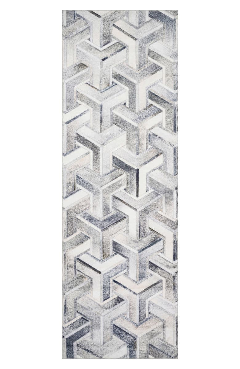 LOLOI Maddox Collection Rug - Silver/Ivory - 8' x 10', Main, color, SILVER / IVORY