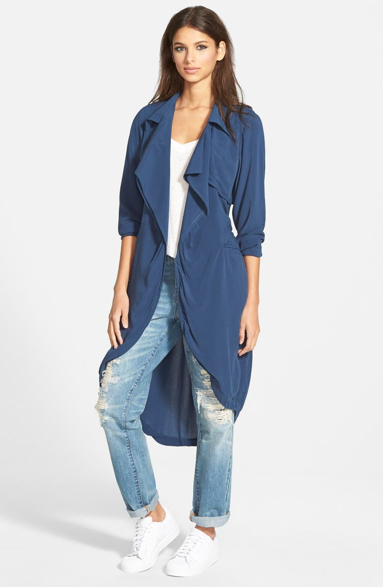NATIVE YOUTH Drapey Belted Trench, Main, color, 400