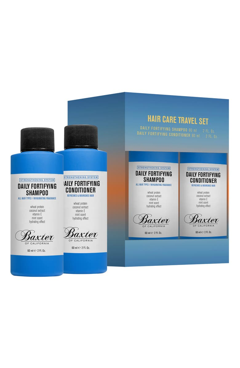 BAXTER OF CALIFORNIA Travel Size Daily Fortifying Shampoo & Conditioner Set, Main, color, 000