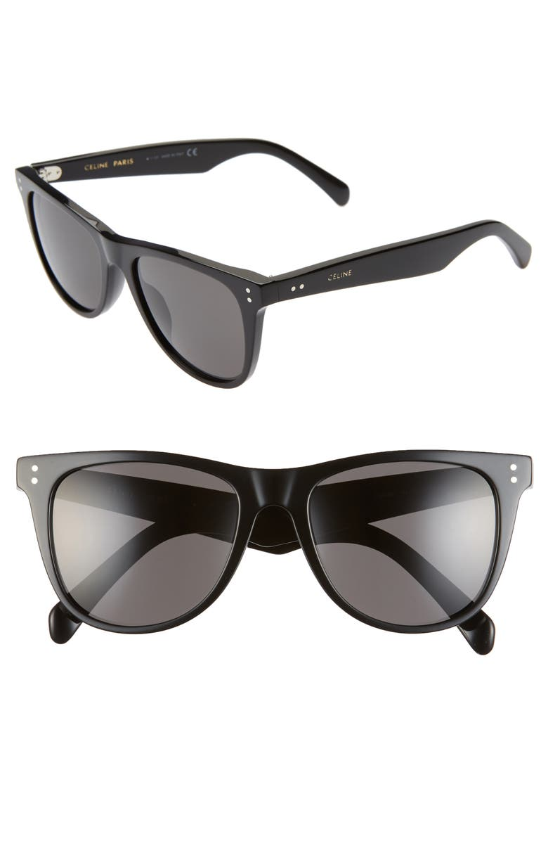 CELINE 54mm Round Sunglasses, Main, color, 018