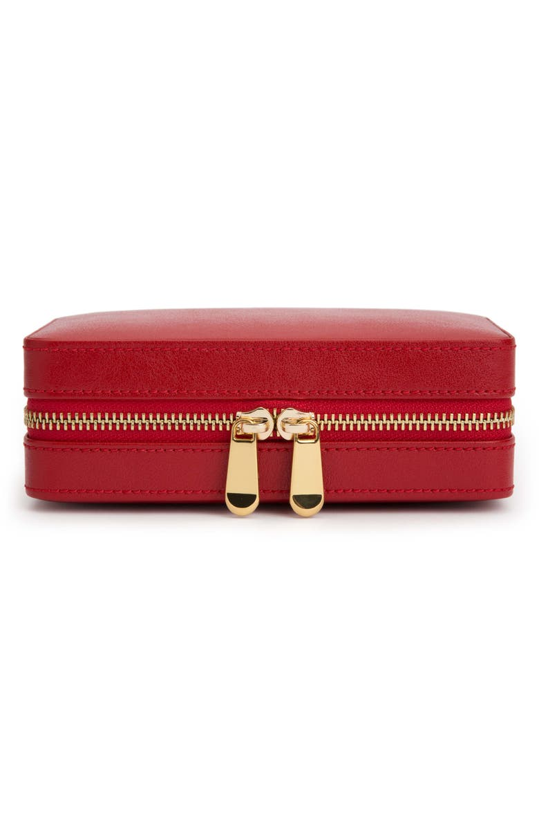WOLF Palermo Zip Jewelry Case, Main, color, RED