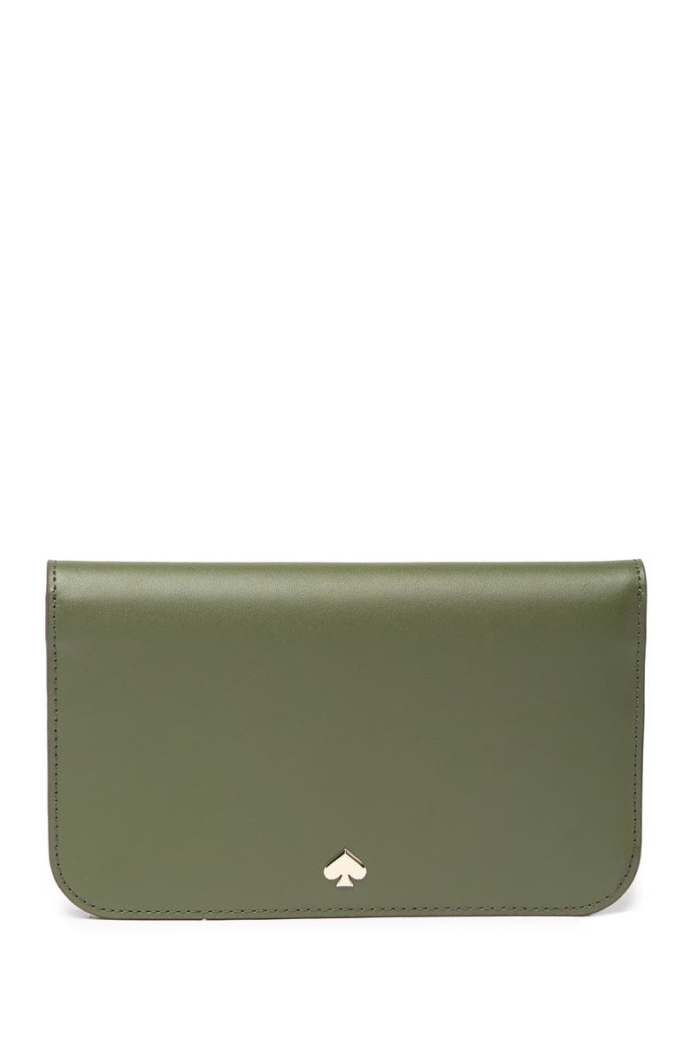 KATE SPADE NEW YORK nadine leather clutch wallet, Main, color, SAPLING
